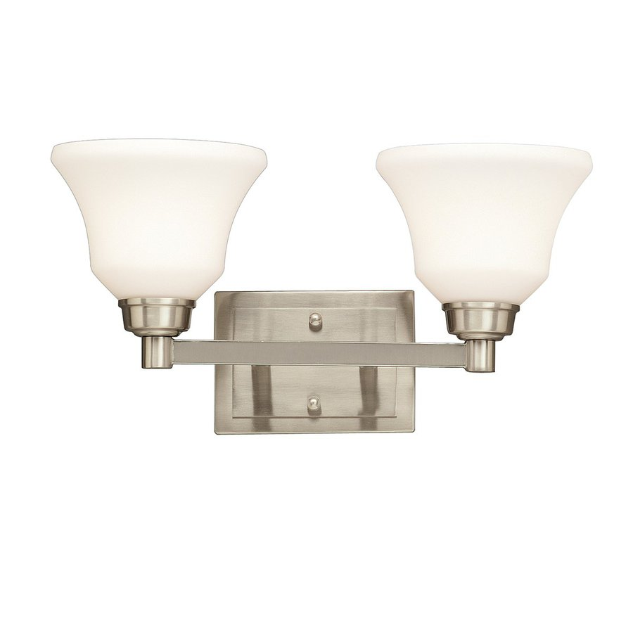 Kichler Langford 2-Light 8.5-in Brushed Nickel Bell Vanity Light