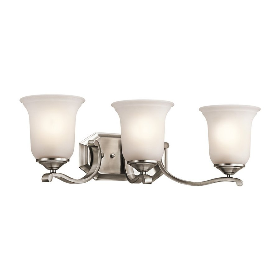 Kichler Wellington Square 3-Light 7.5-in Classic Pewter Bell Vanity Light