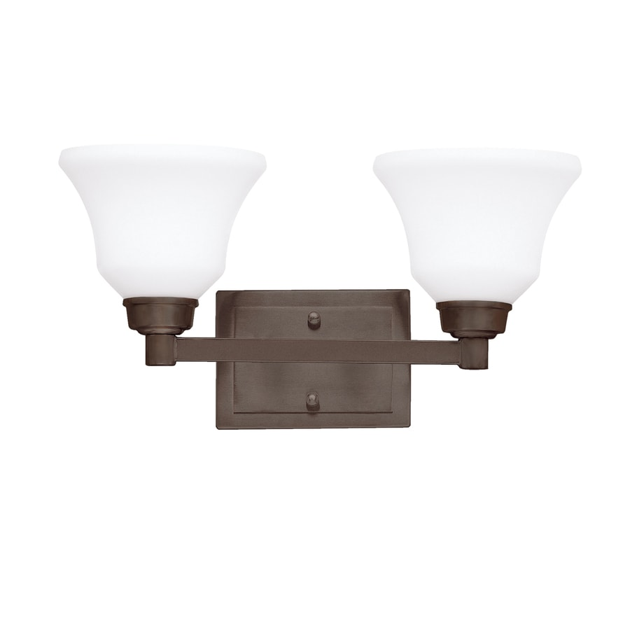 Kichler Lighting Langford 2-Light 8.5-in Olde Bronze Bell Vanity Light