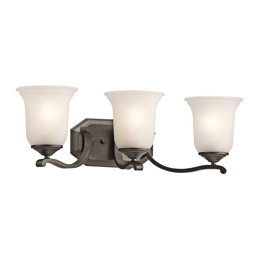 Kichler Wellington Square 3-Light 7.5-in Olde Bronze Bell Vanity Light