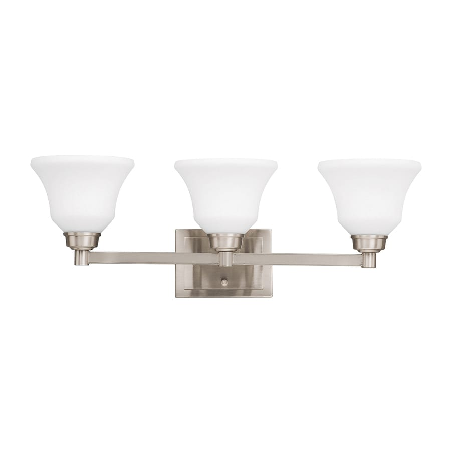 Kichler Langford 3-Light 8.5-in Brushed nickel Bell Vanity Light