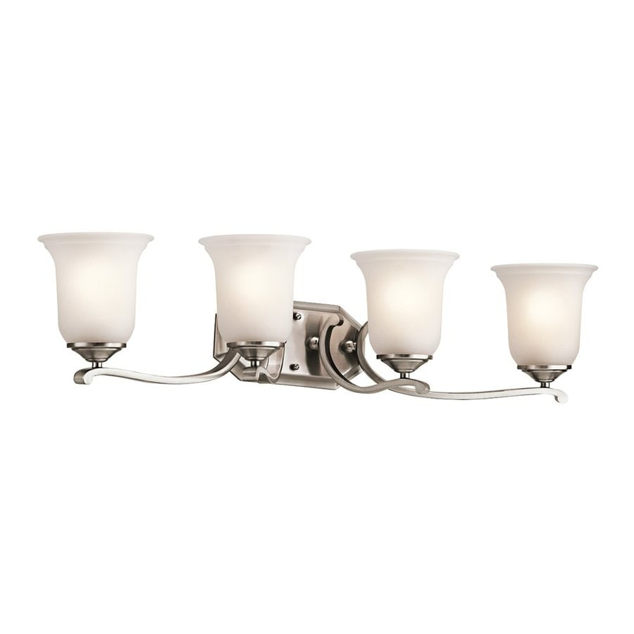 Kichler Lighting Wellington Square 4-Light Classic Pewter Bell Vanity Light