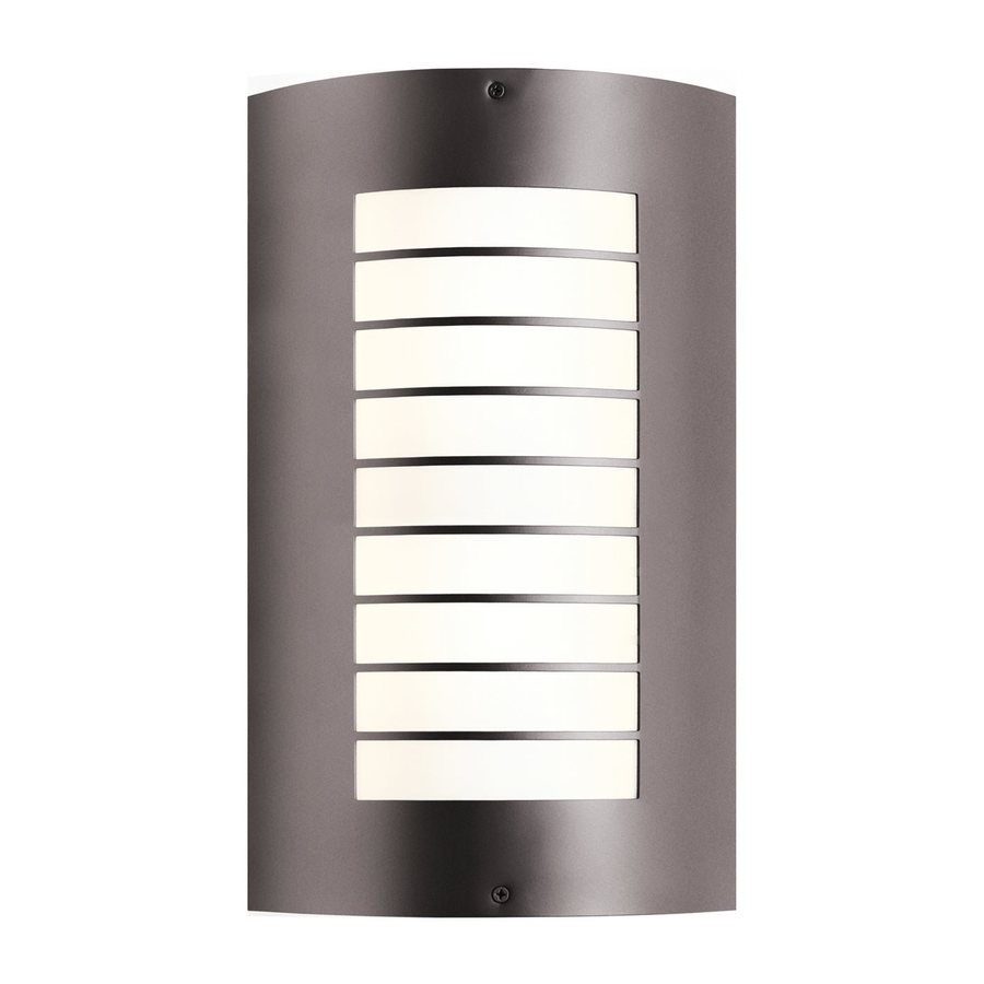 Kichler Newport 15.25-in H Architectural Bronze Outdoor Wall Light