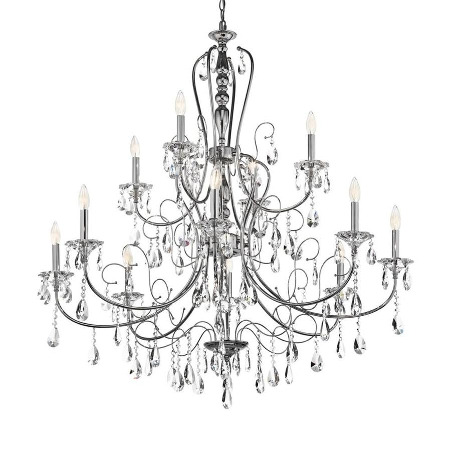 Kichler Lighting Jules 44-in 12-Light Chrome Crystal Candle Chandelier