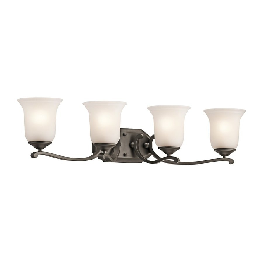Kichler Lighting Wellington Square 4-Light 7.5-in Olde Bronze Bell Vanity Light
