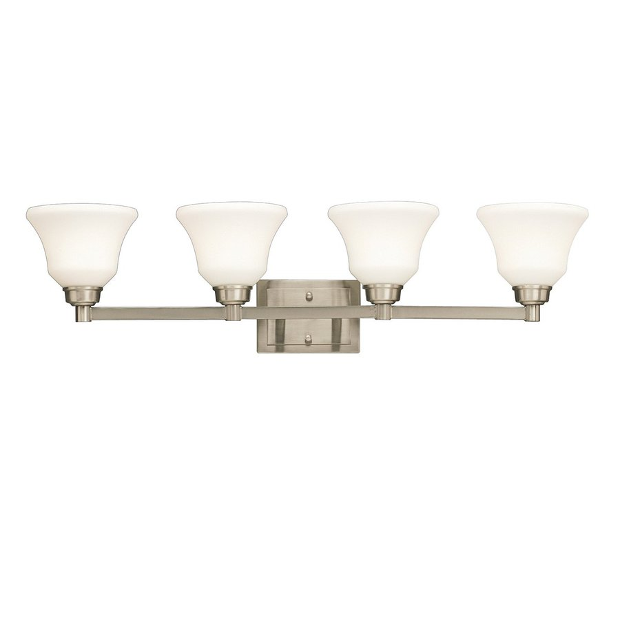 Kichler Lighting Langford 4-Light 8.5-in Brushed Nickel Bell Vanity Light