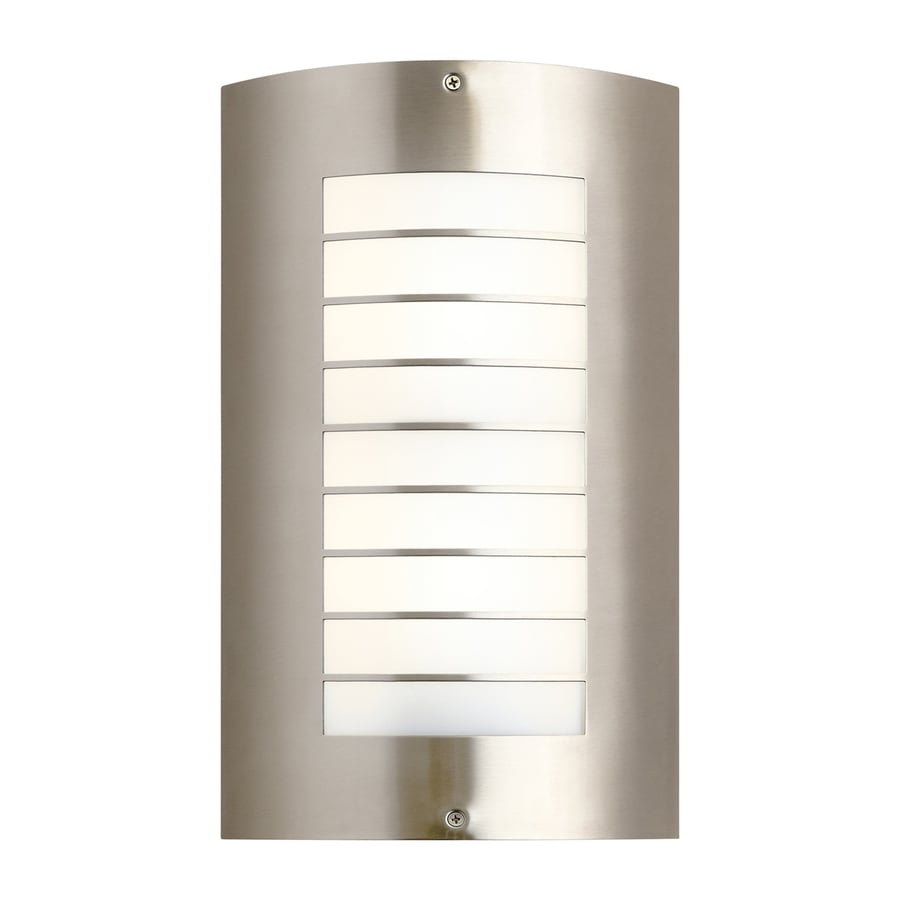 Kichler Newport 15.25-in H Brushed Nickel Outdoor Wall Light