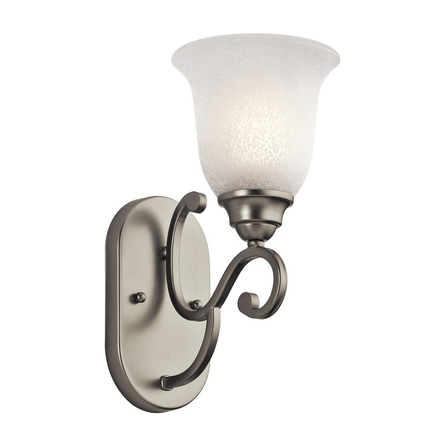 Kichler Camerena 1-Light 12.5-in Brushed nickel Bell Vanity Light