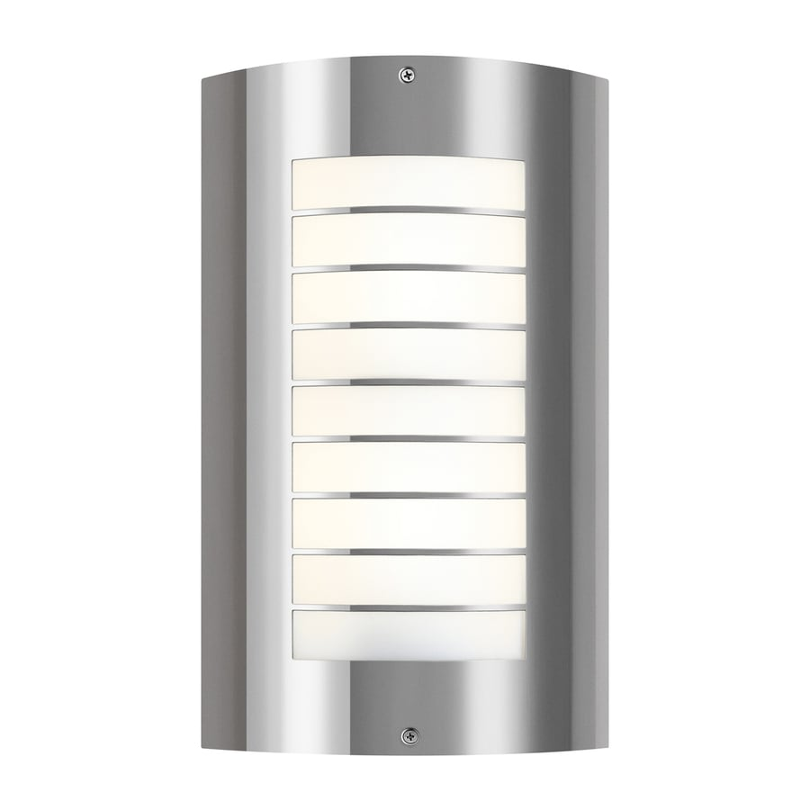Shop kichler lighting newport 1525 in h fluorescent polished kichler lighting newport 1525 in h fluorescent polished stainless steel outdoor wall light aloadofball Choice Image