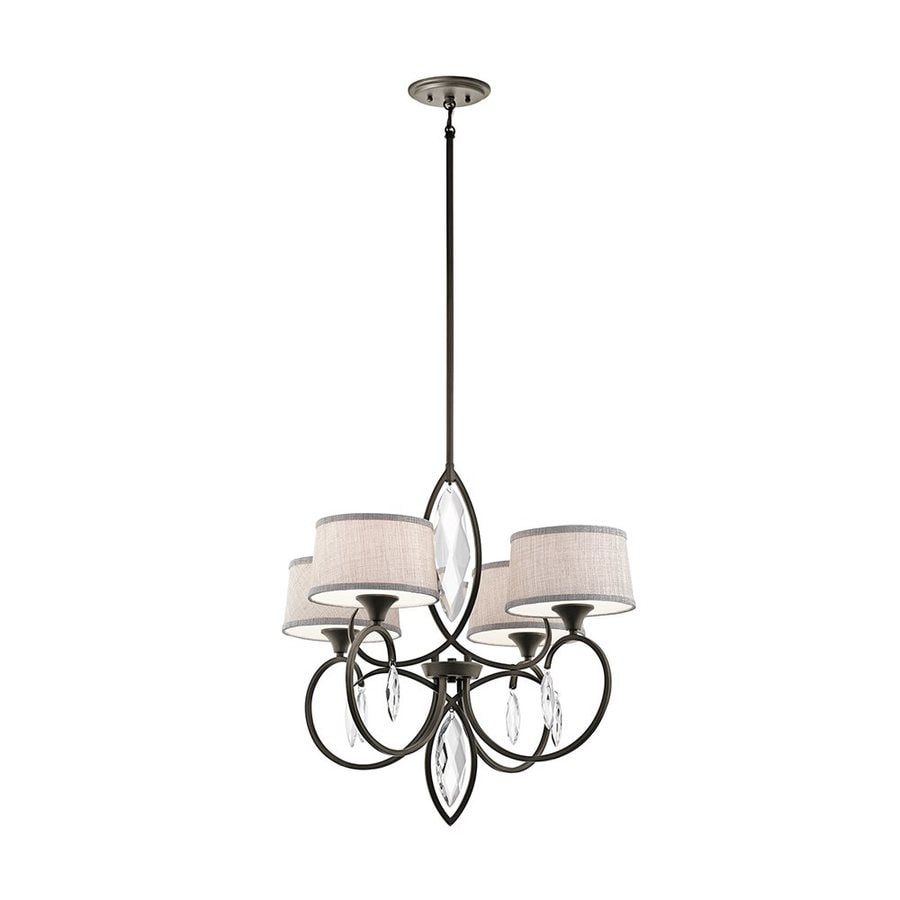 Kichler Casilda 29-in 4-Light Olde bronze Crystal Shaded Chandelier