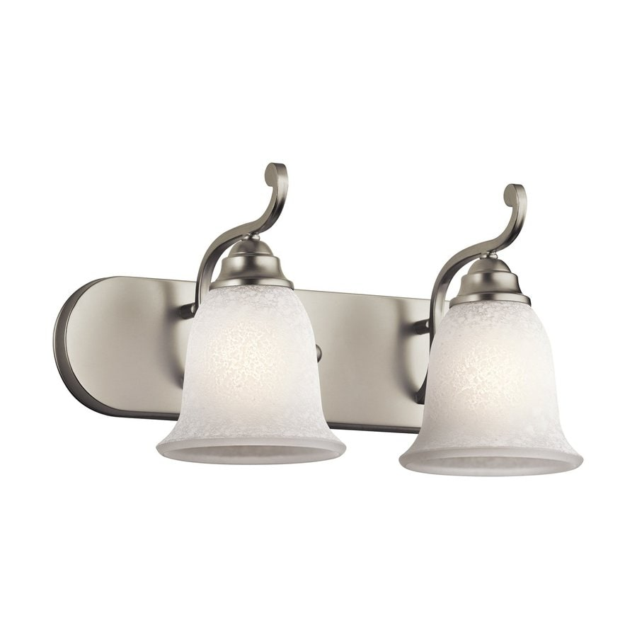 Kichler Lighting Camerena 2-Light Brushed Nickel Bell Vanity Light