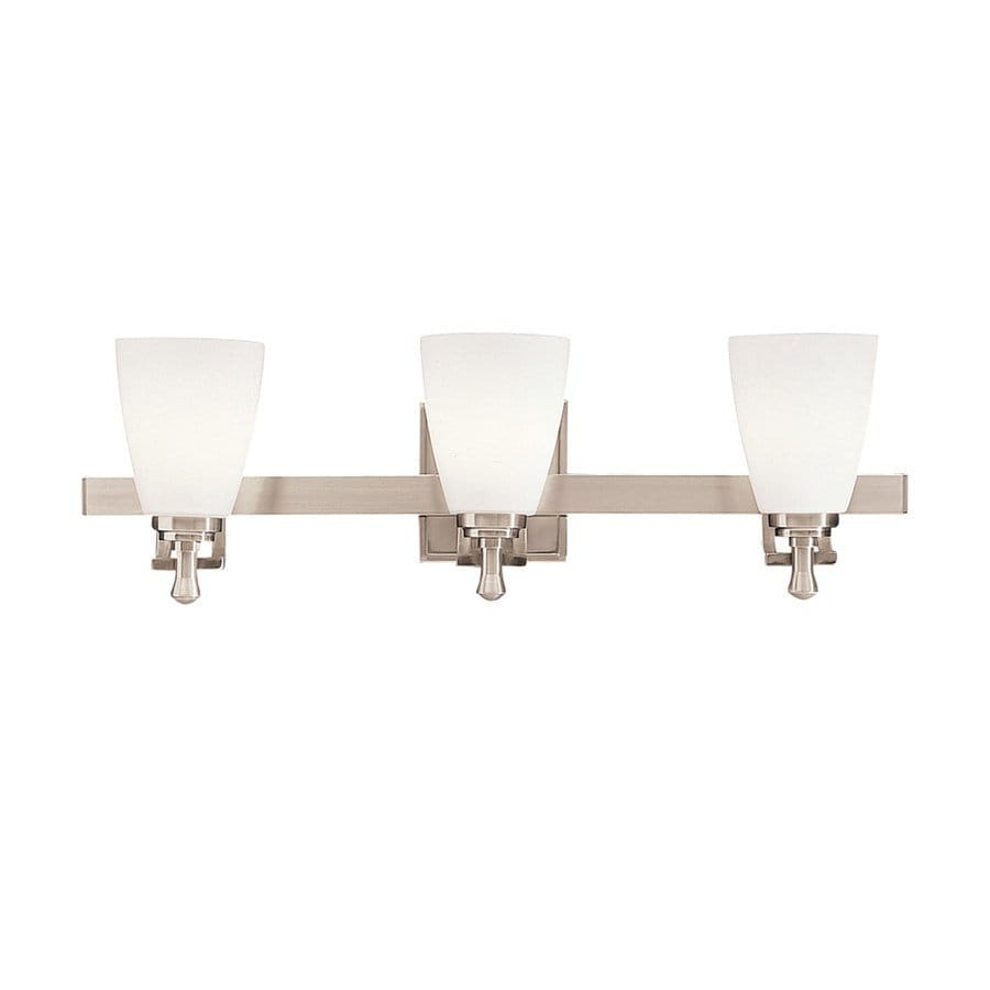 Kichler Uptown 3-Light 7.5-in Brushed Nickel Bell Vanity Light