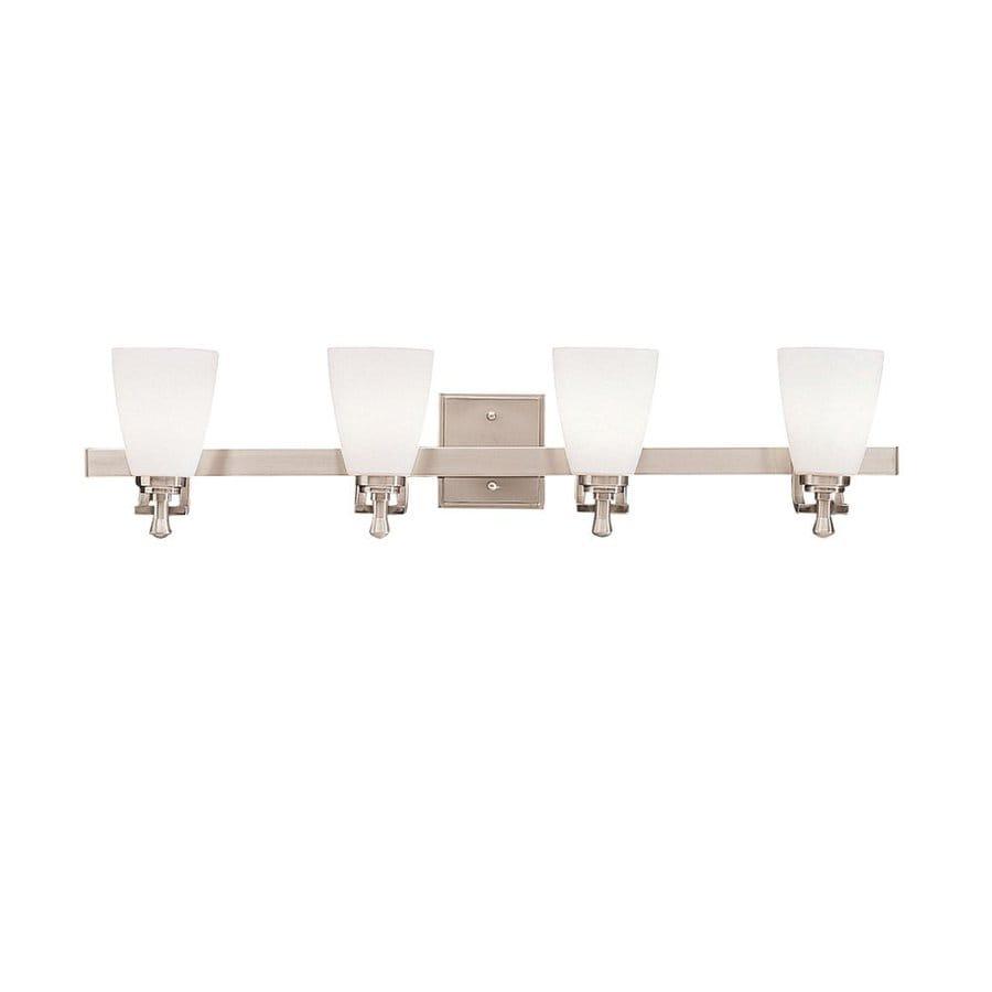 Kichler Uptown 4-Light 7.5-in Brushed nickel Bell Vanity Light