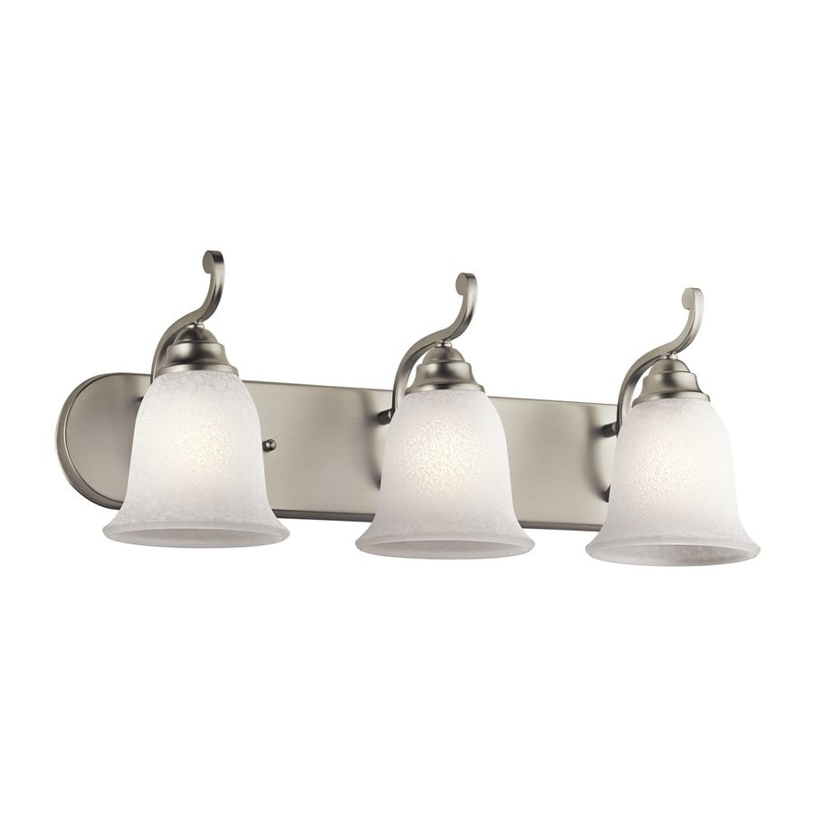 Kichler Camerena 3-Light 9-in Brushed nickel Bell Vanity Light