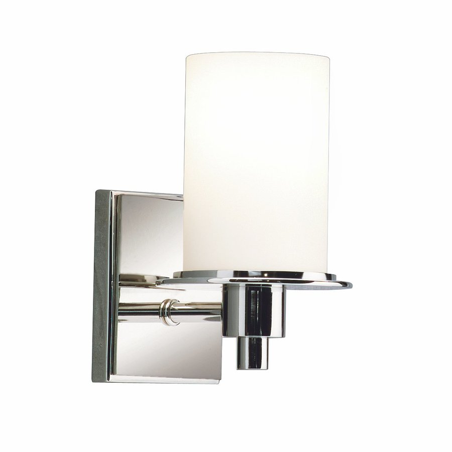 Kichler Lighting Cylinders 1-Light 8-in Polished Nickel Cylinder Vanity Light