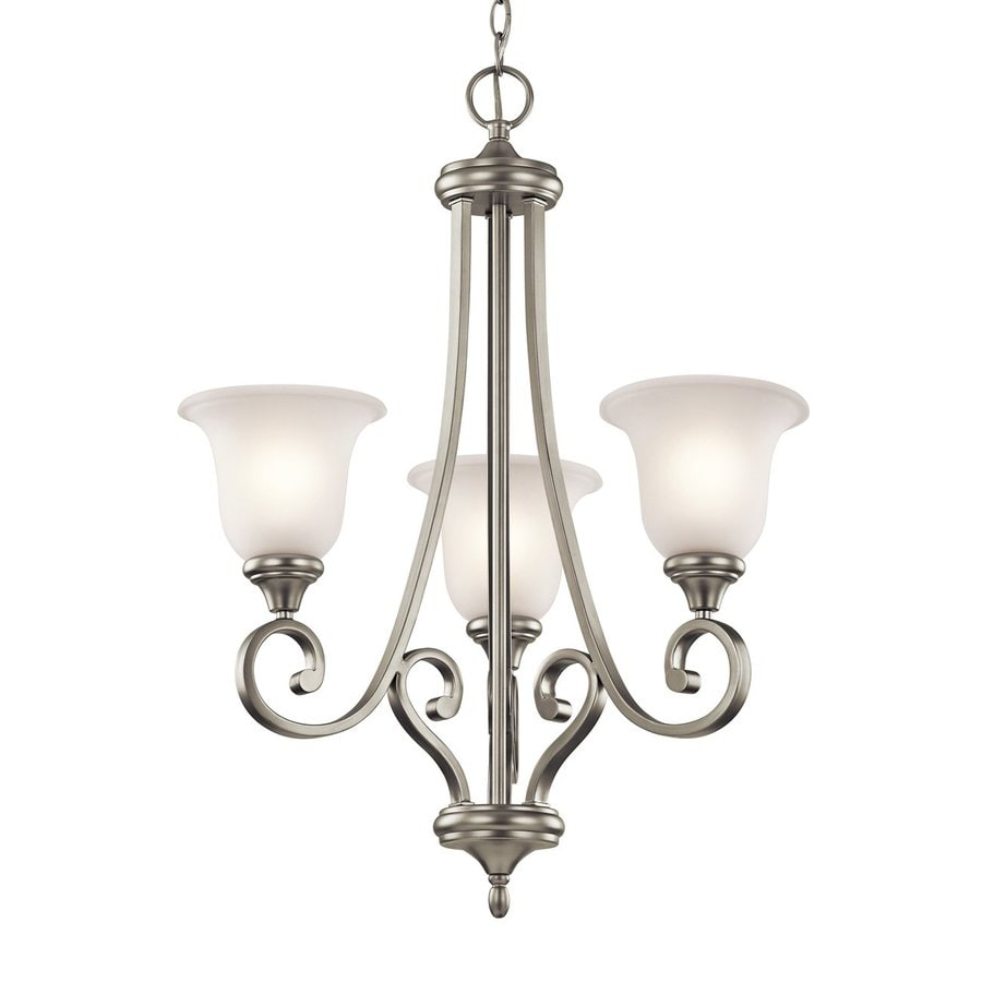 Shop Kichler Monroe 23 In 3 Light Brushed Nickel Vintage