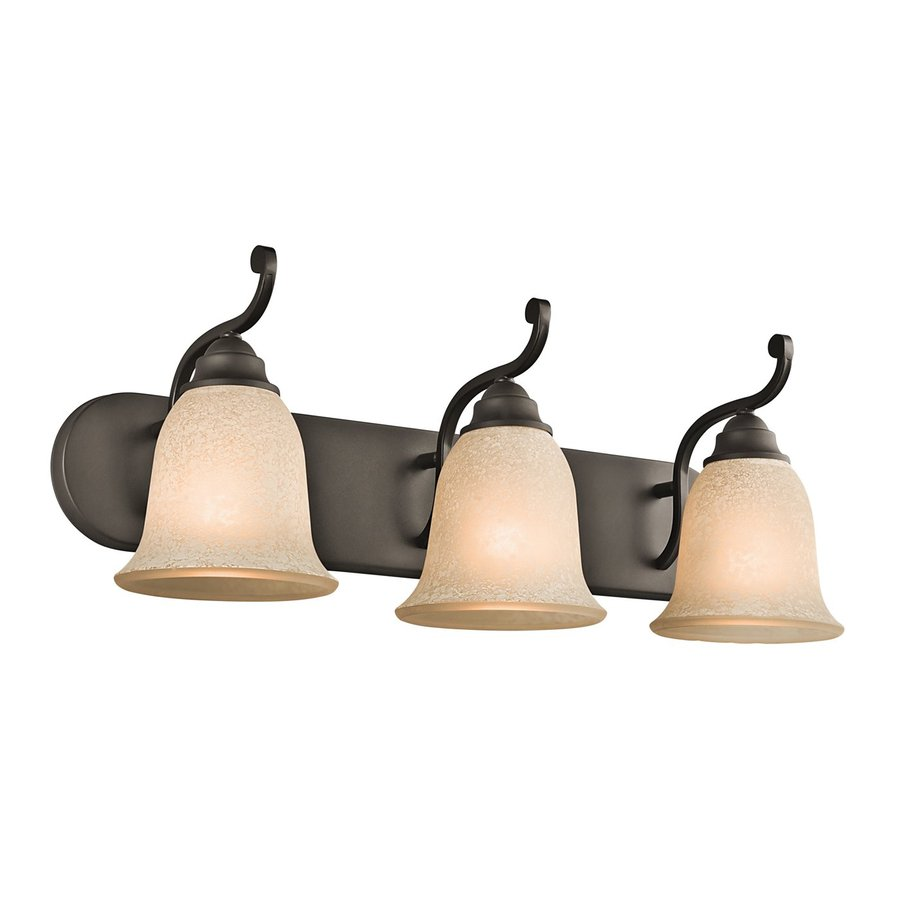Kichler Camerena 3-Light 9-in Olde Bronze Bell Vanity Light