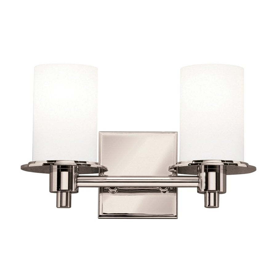 Kichler Cylinders 2-Light 8-in Polished Nickel Cylinder Vanity Light