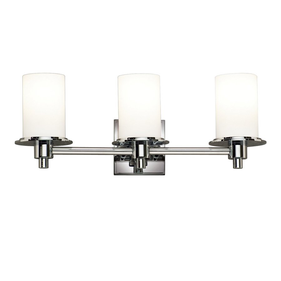 Kichler Lighting Cylinders 3-Light 8-in Polished Nickel Cylinder Vanity Light