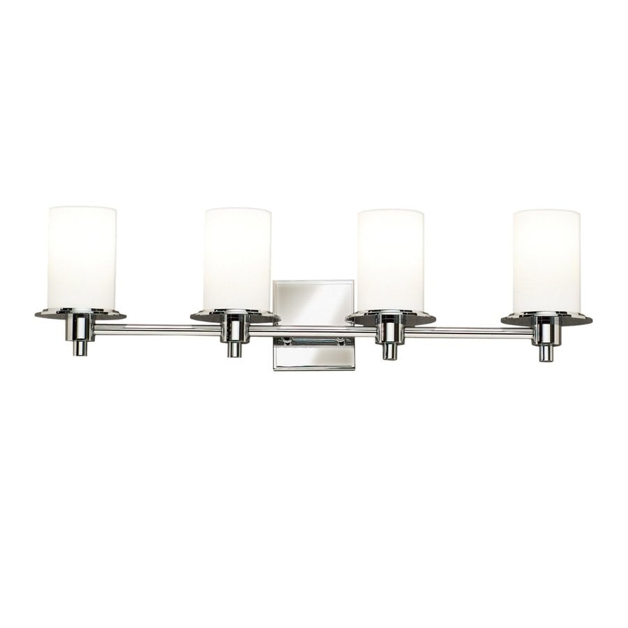 Kichler Cylinders 4-Light 8-in Polished nickel Cylinder Vanity Light