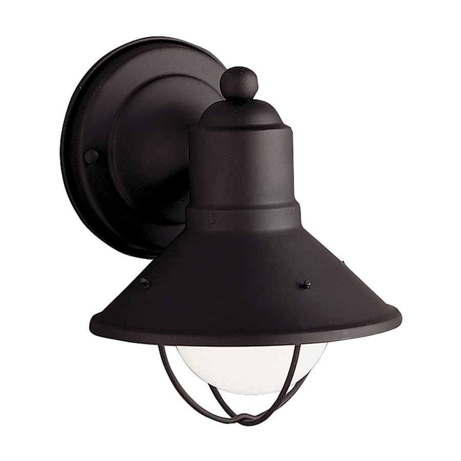 Shop Kichler Seaside 7.5-in H Black Outdoor Wall Light at Lowes.com