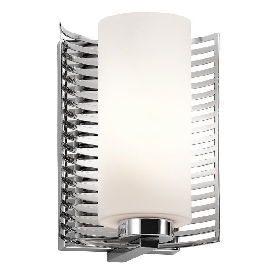 Kichler Selene 1-Light 9.25-in Chrome Cylinder Vanity Light
