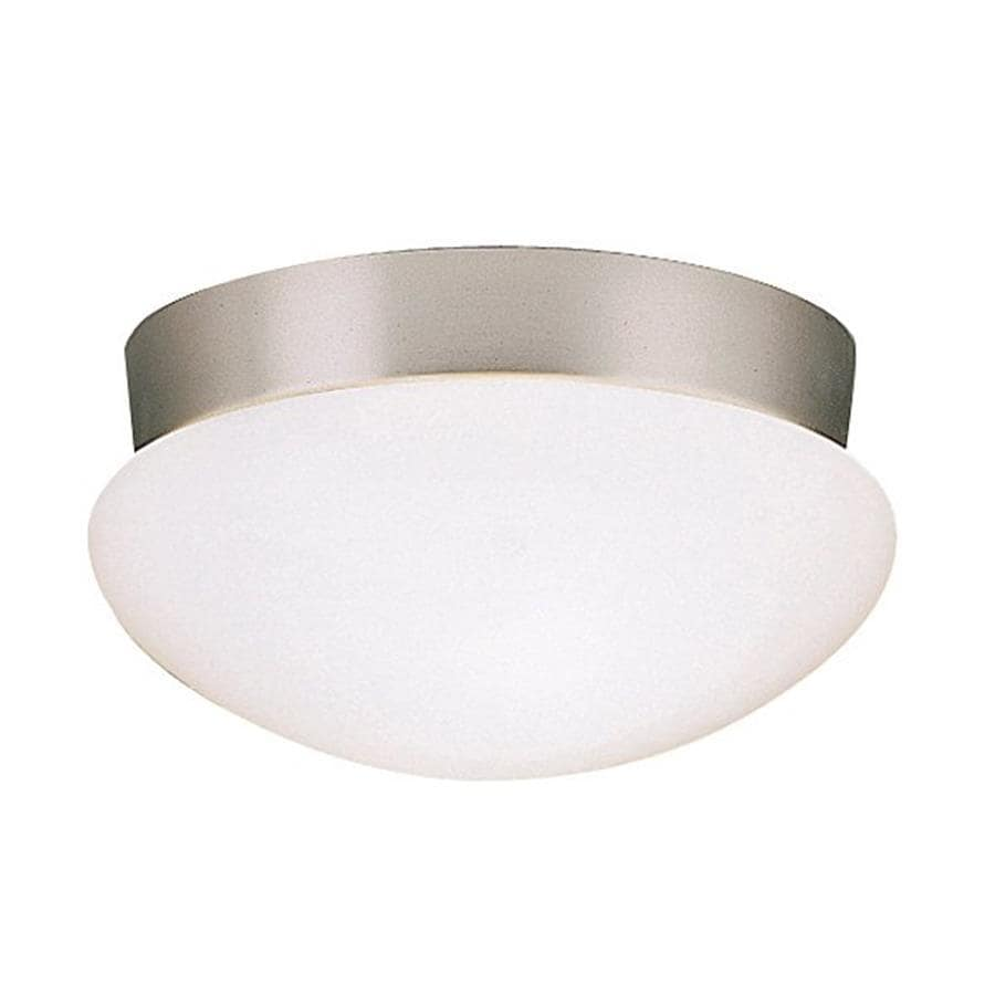 Kichler Ceiling Space Brushed Nickel Flush Mount Fluorescent Light ENERGY STAR (Common: 1-ft; Actual: 9.25-in)