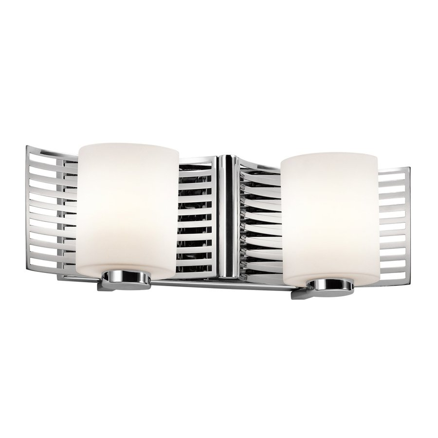 Kichler Selene 2-Light 5.25-in Chrome Cylinder Vanity Light