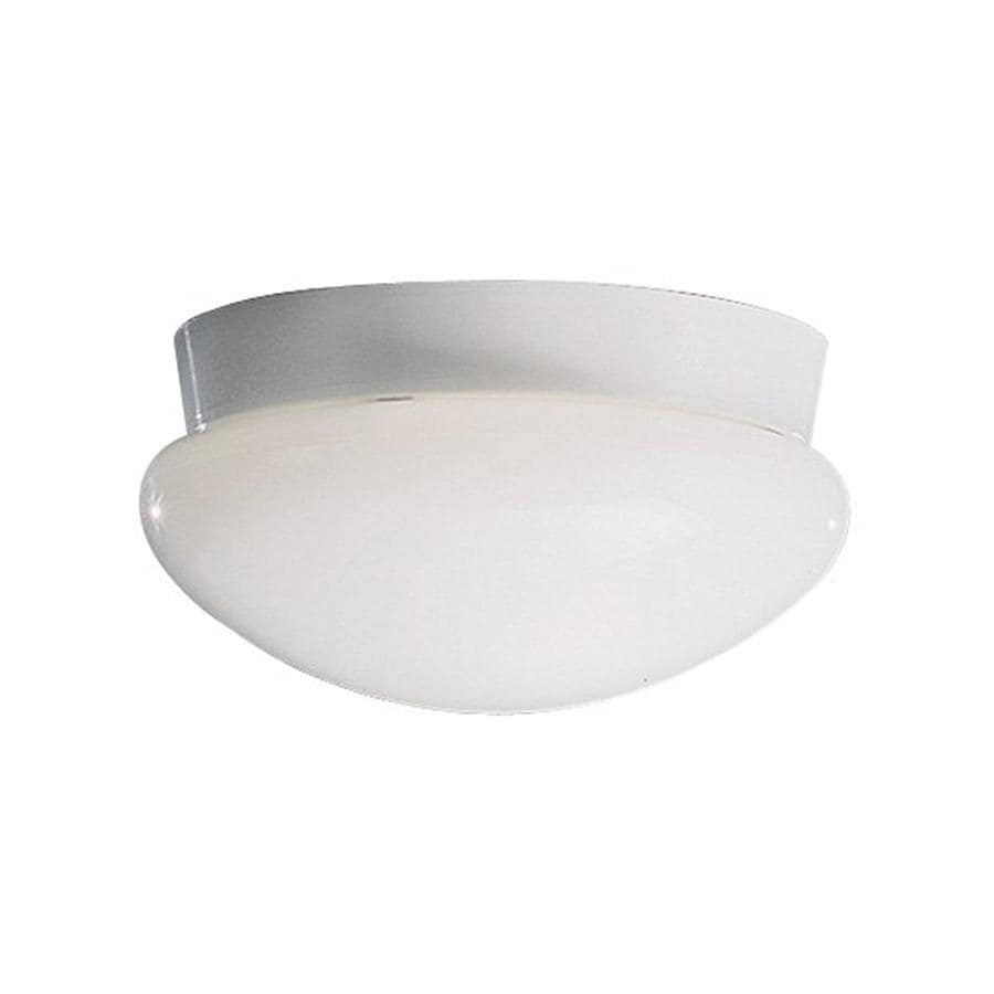 Kichler Ceiling Space White Flush Mount Fluorescent Light ENERGY STAR (Common: 1-ft; Actual: 9.25-in)