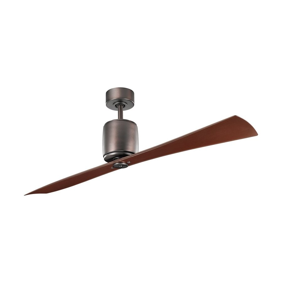 Kichler Lighting Ferron 60-in Oil Brushed Bronze Downrod Mount Indoor Ceiling Fan with Remote (2-Blade)