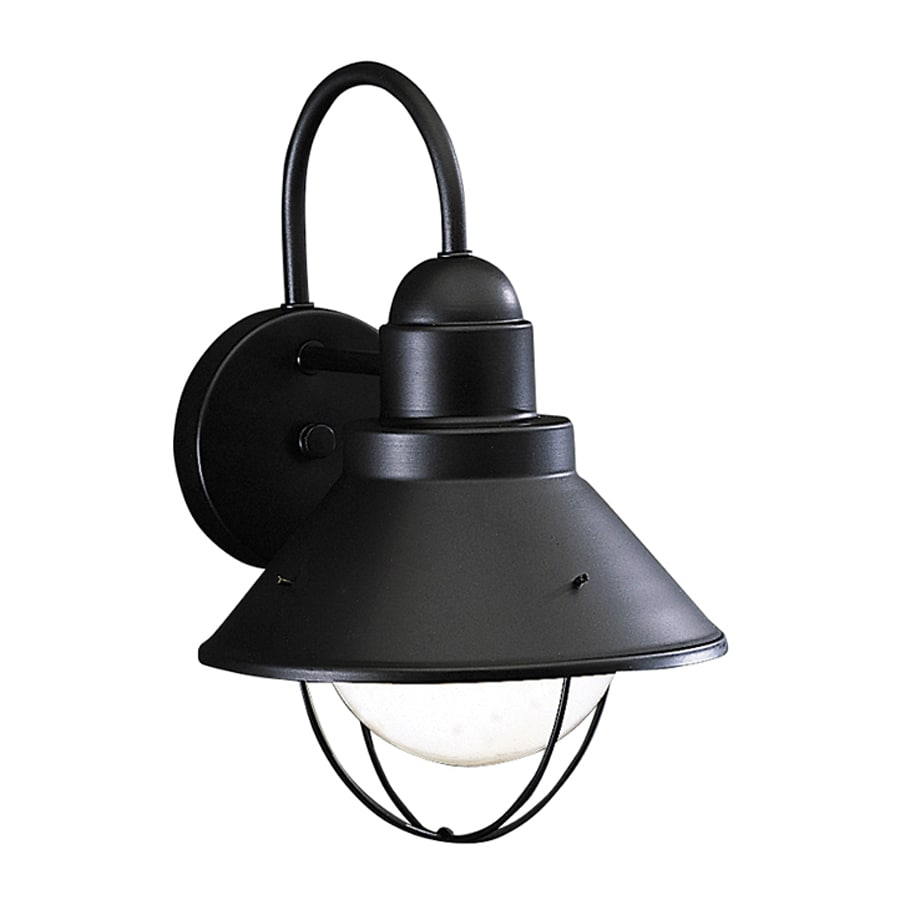 Kichler Seaside 12-in H Black Dark Sky Outdoor Wall Light