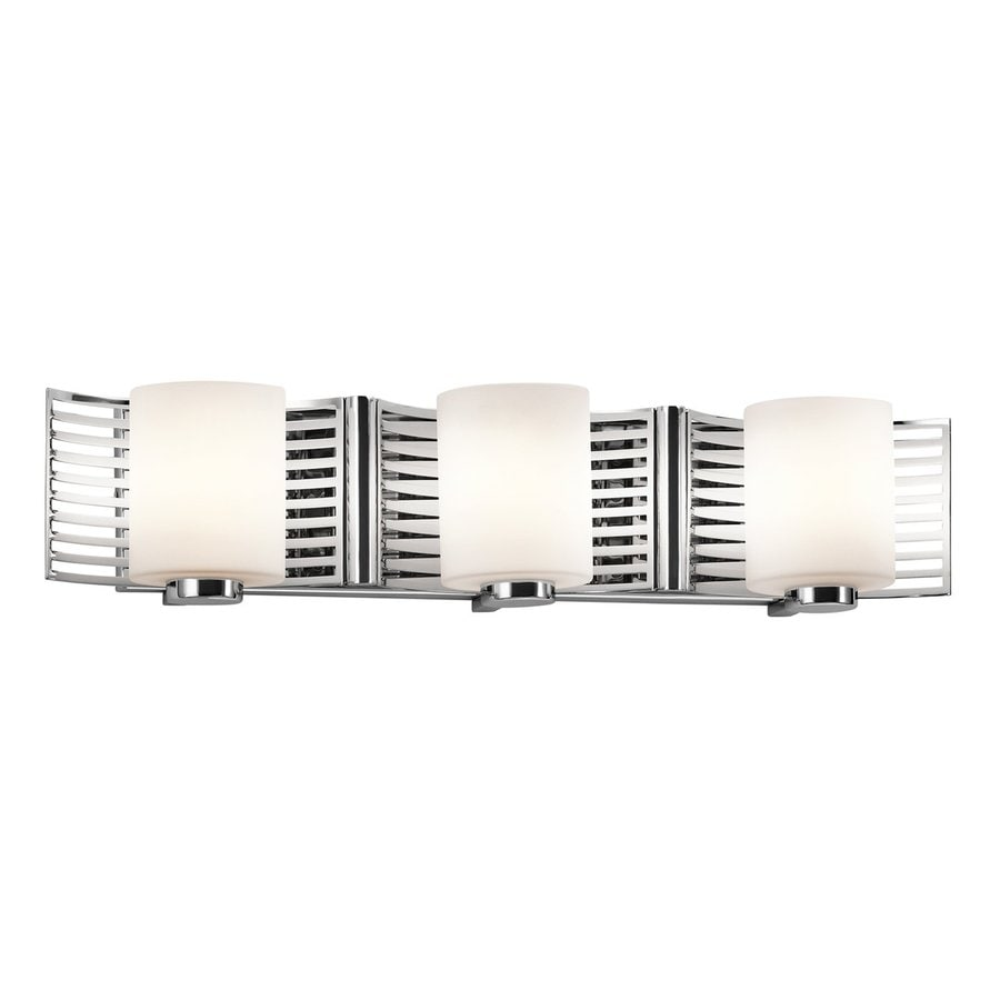 Kichler Selene 3-Light 5.25-in Chrome Cylinder Vanity Light