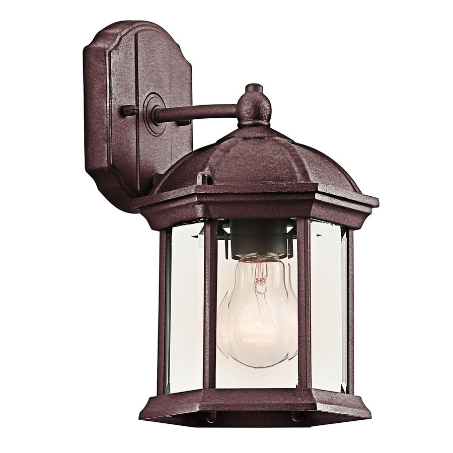 Shop Kichler Lighting Barrie H Tannery Bronze Outdoor Wall Light At