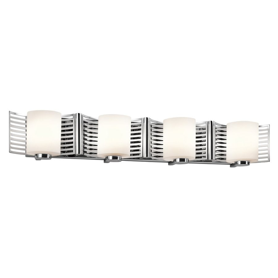 Kichler Lighting Selene 4-Light Chrome Cylinder Vanity Light