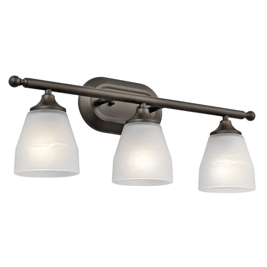 Kichler Vanity Lights Lowes : Shop Kichler Ansonia 3-Light 8.75-in Olde Bronze Cone Vanity Light at Lowes.com