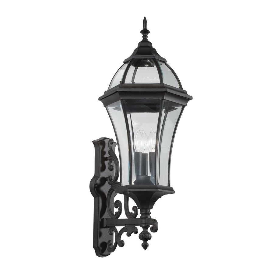 Kichler Townhouse 31-in H Black Outdoor Wall Light
