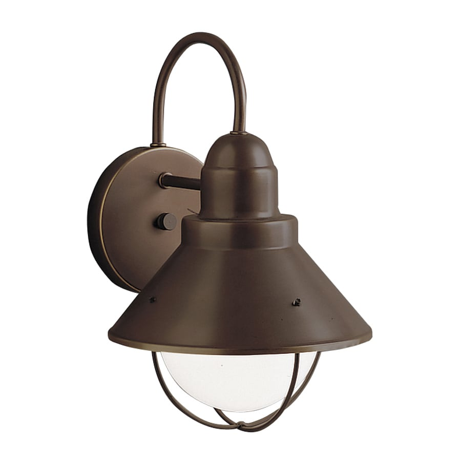 Shop Kichler Seaside 12 In H Olde Bronze Dark Sky Outdoor Wall Light At