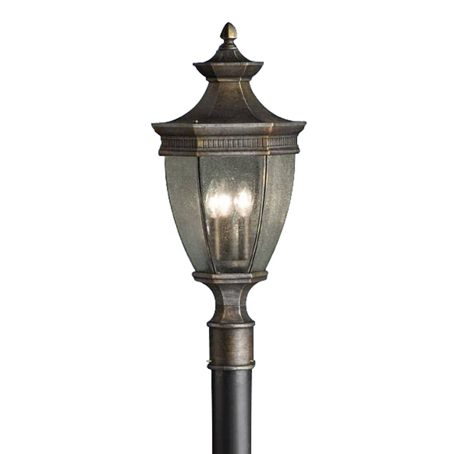 Kichler Warrington 25.25-in H Tannery Bronze Post Light