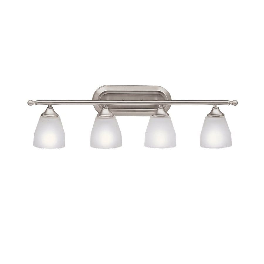 Kichler Lighting Ansonia 4-Light 8.75-in Brushed Nickel Cone Vanity Light