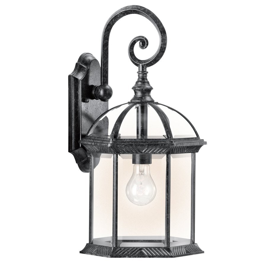 Kichler Barrie 19-in H Black Outdoor Wall Light