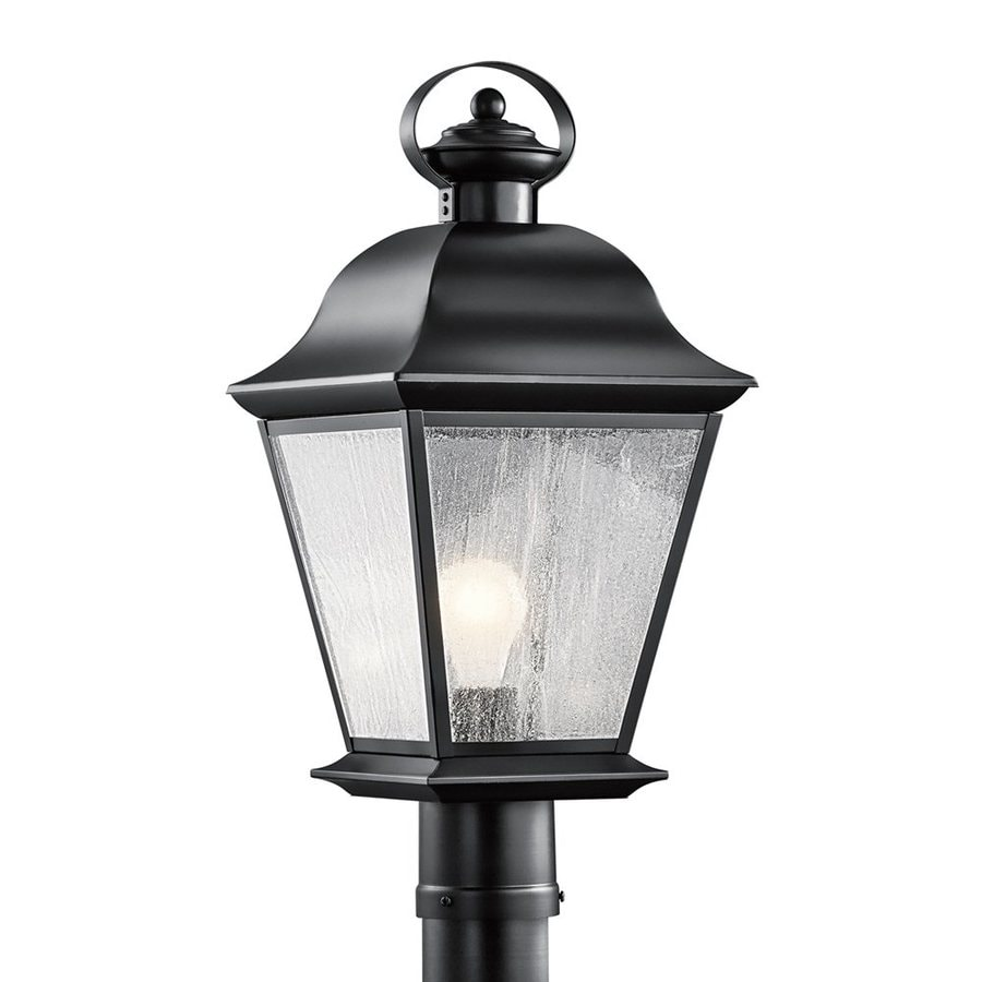 Kichler Mount Vernon 20.75-in H Black Post Light