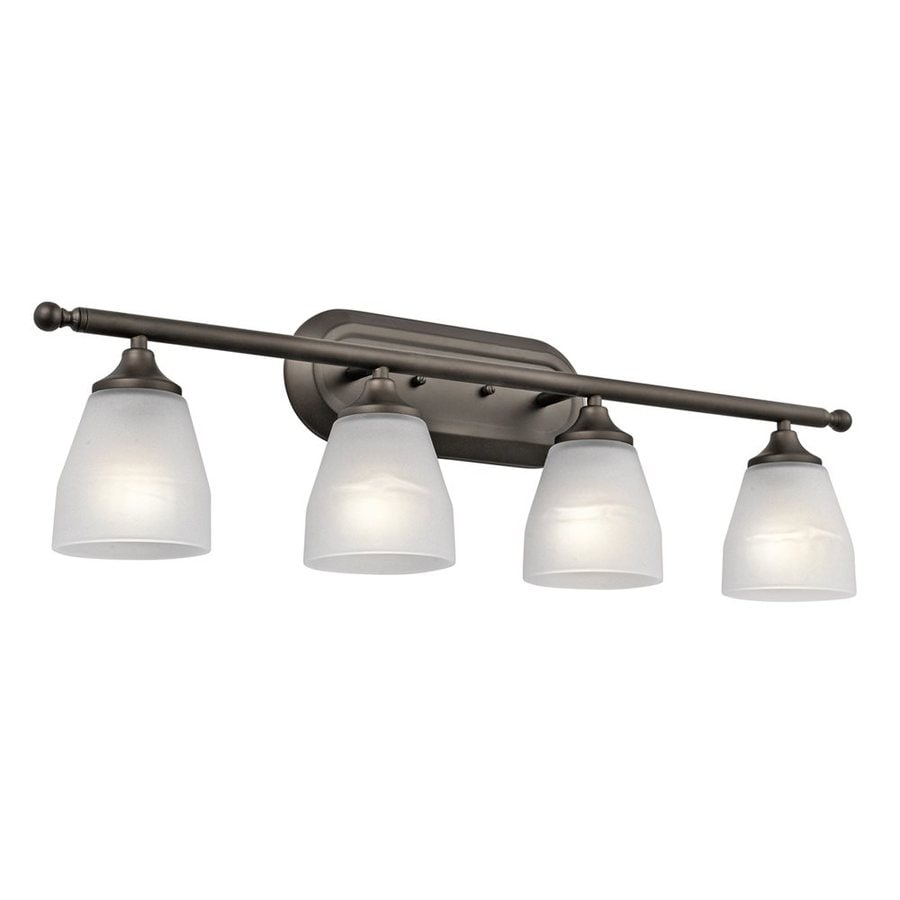 Shop Kichler Ansonia 4 Light Olde Bronze Cone Vanity Light At