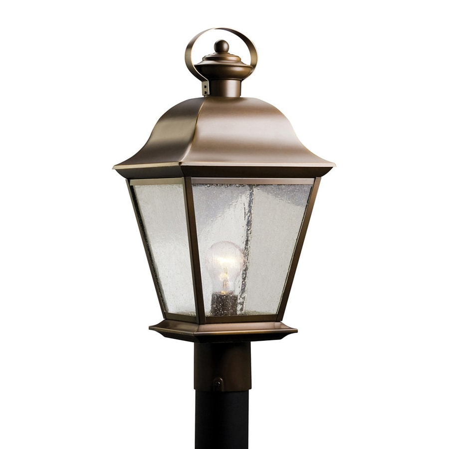Kichler Lighting Mount Vernon 20.75-in H Olde Bronze Post Light