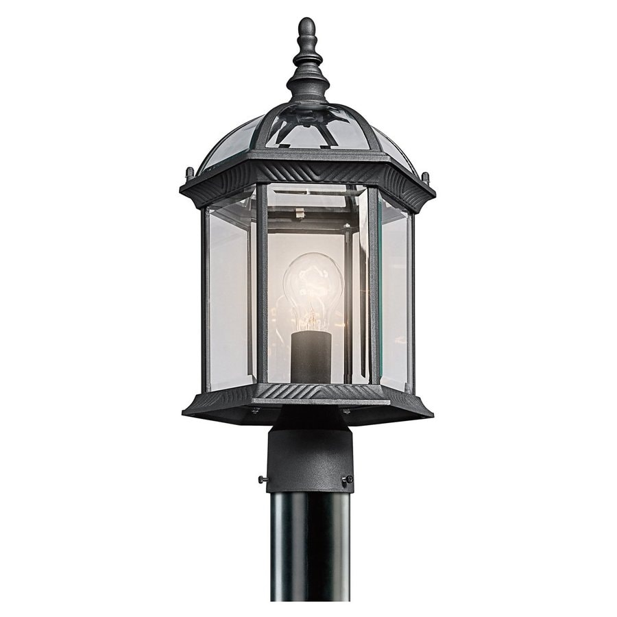 Kichler New Street 18-in H Black Post Light