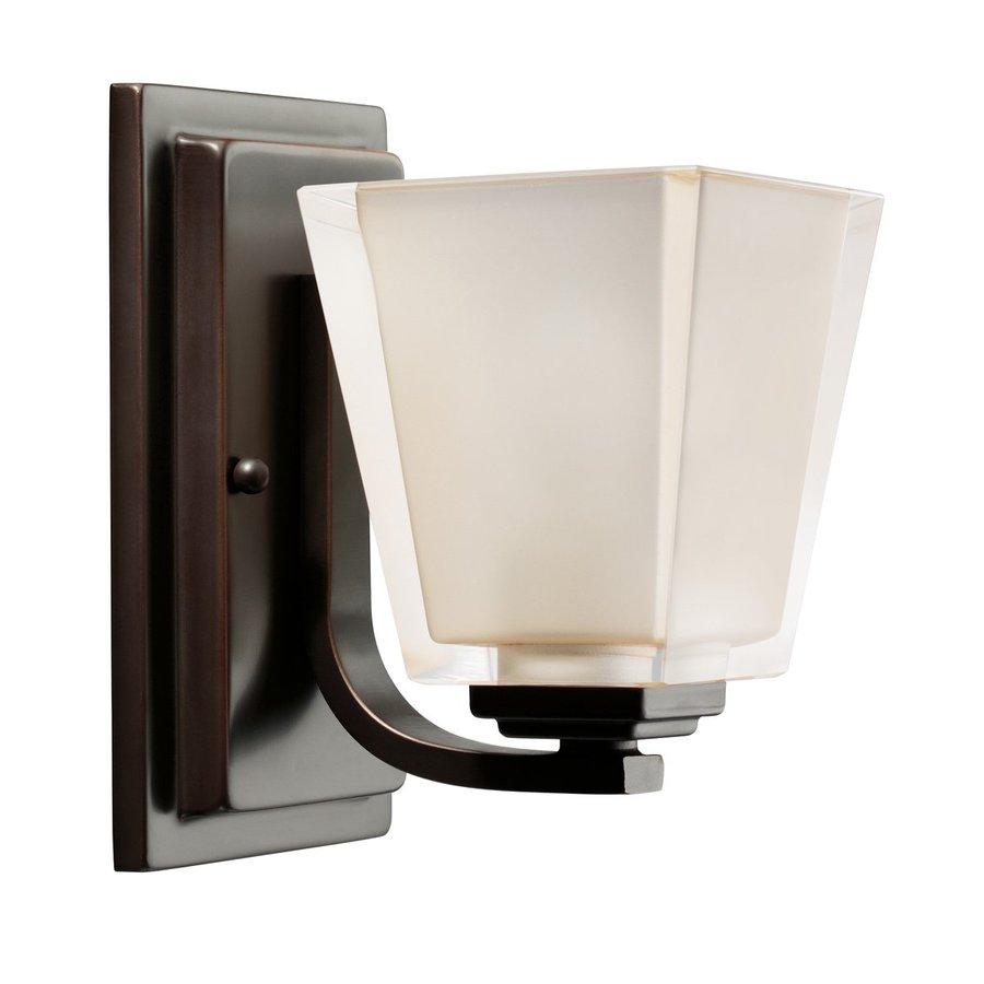 Kichler Urban Ice 1-Light 8-in Olde Bronze Rectangle Vanity Light