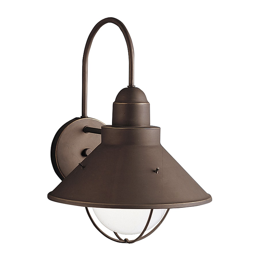 Kichler Lighting Seaside 14.25-in H Olde Bronze Dark Sky Outdoor Wall Light
