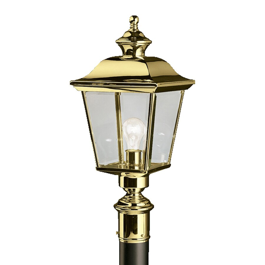 Kichler Lighting: Shop Kichler Lighting Bay Shore 22.5-in H Polished Brass Post Light At Lowes.com
