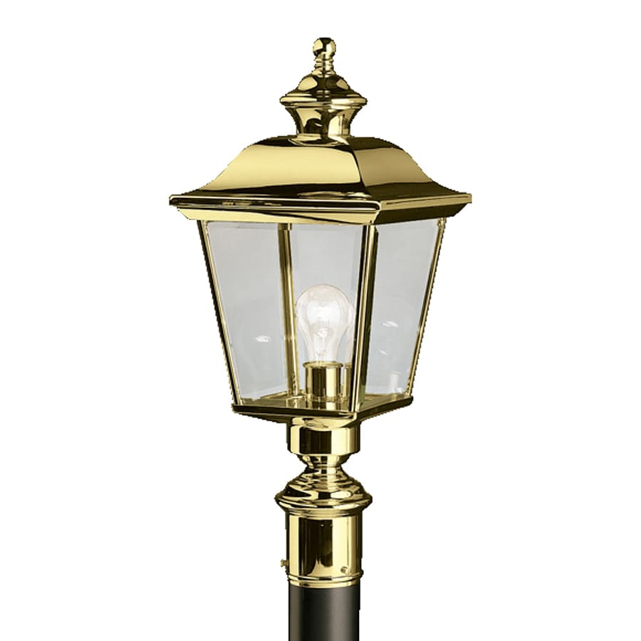 Outdoor Lamp Post B Q: Shop Kichler Bay Shore 22.5-in H Polished Brass Post Light