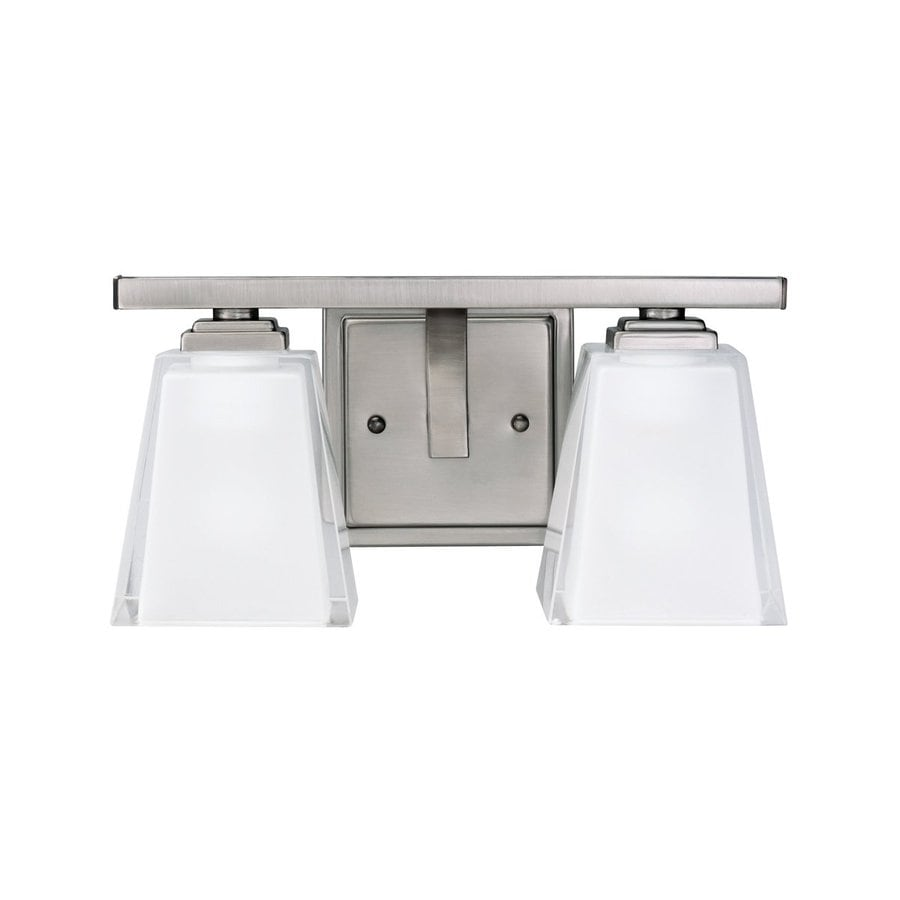 Kichler Lighting Urban Ice 2-Light Antique Pewter Rectangle Vanity Light