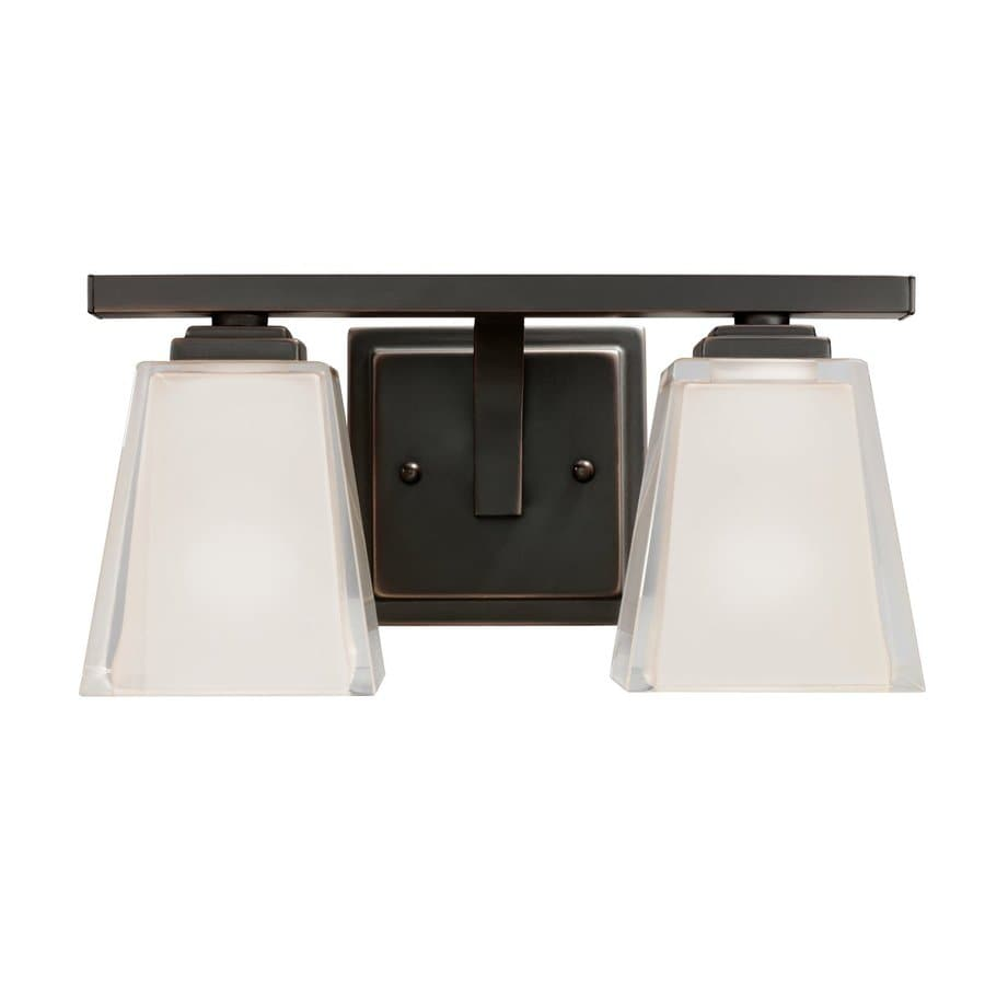 Kichler Urban Ice 2-Light 6.25-in Olde Bronze Rectangle Vanity Light